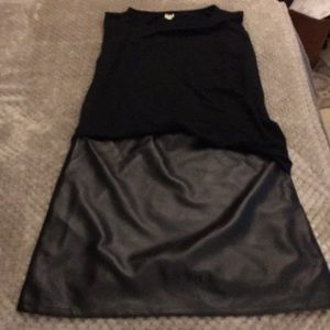 Dresses & Skirts - Black faux leather dress Medium
